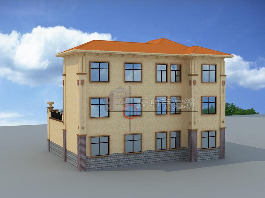 农村别墅设计三层背面效果图