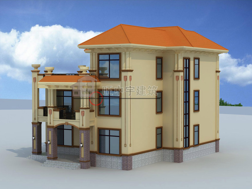 农村别墅设计三层效果图