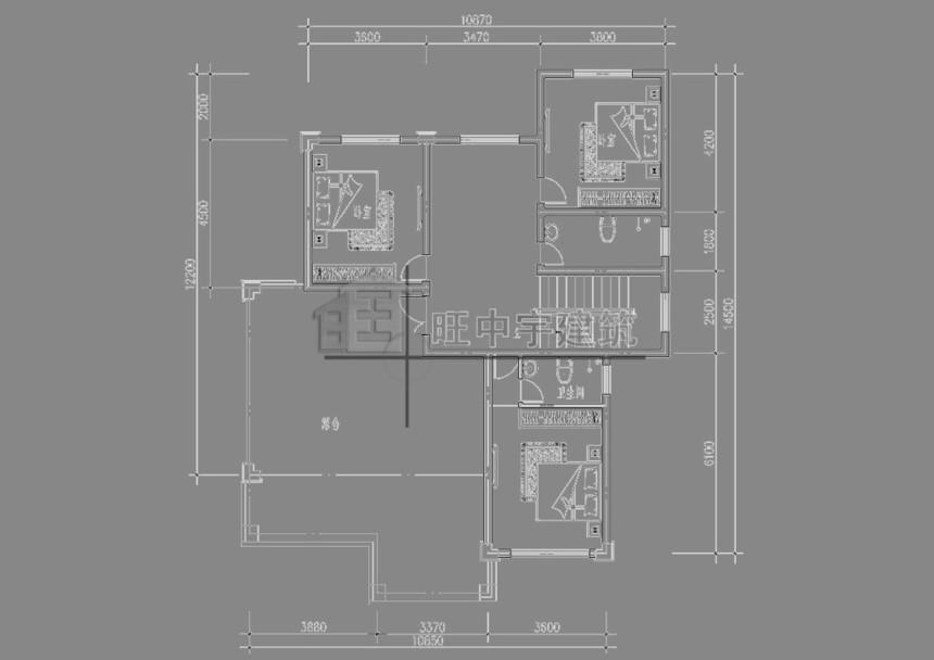 农村别墅设计三层平面图