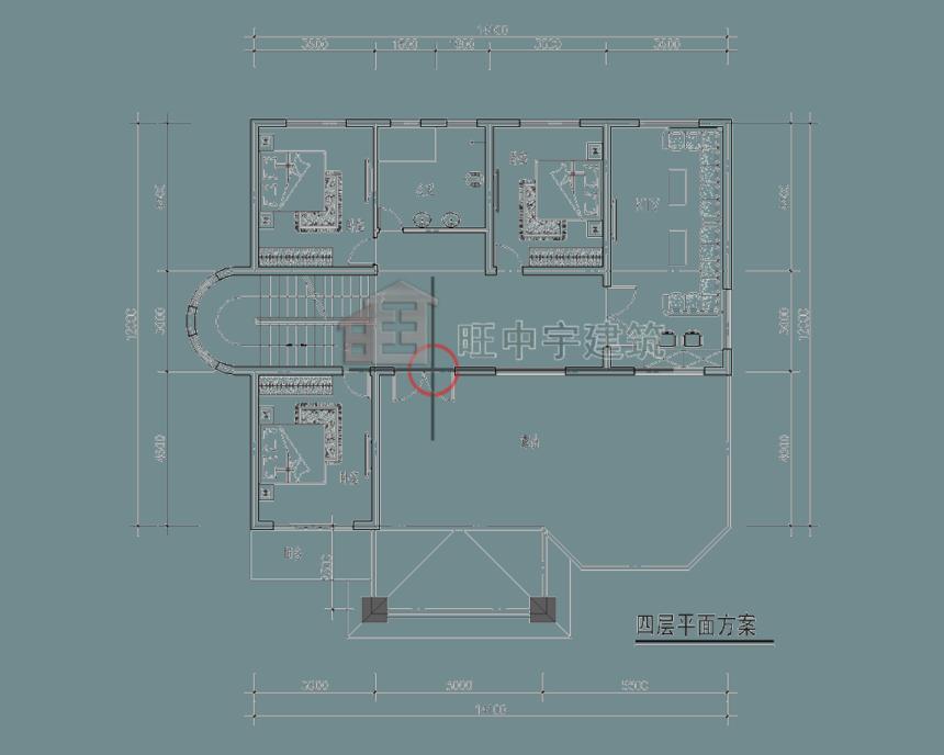 四层农村别墅设计四层平面图