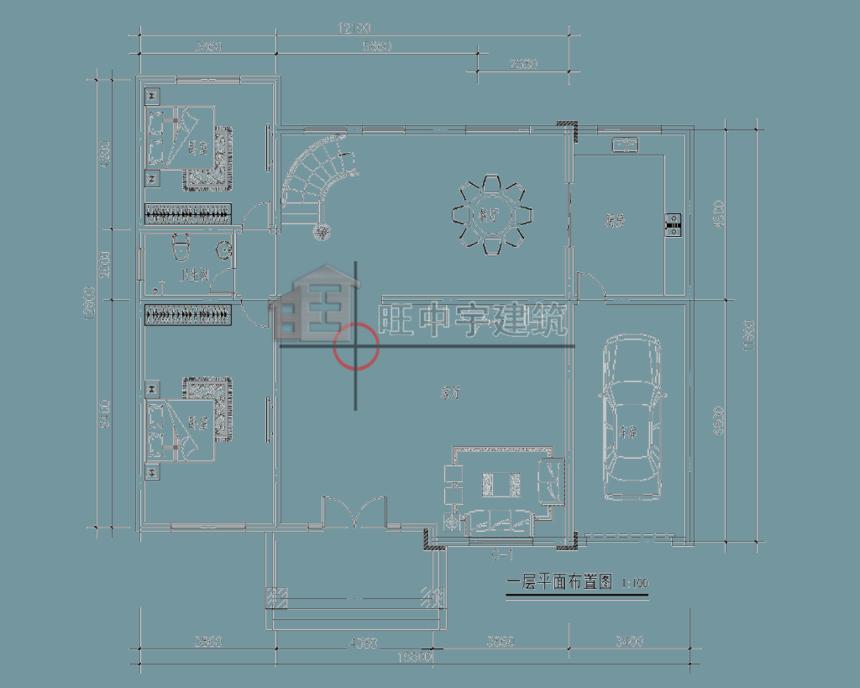 农村别墅设计一层平面