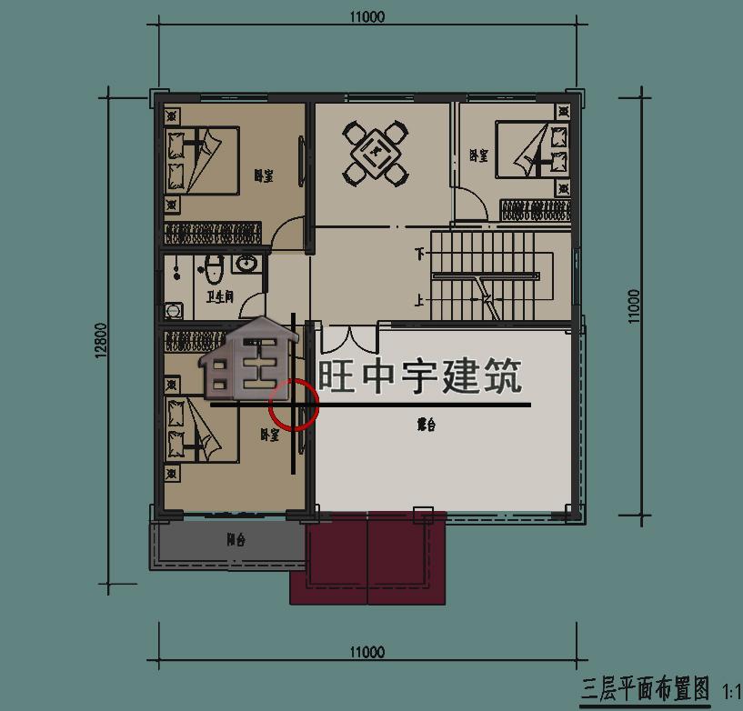 新农村别墅,乡村别墅,田园别墅二层平面图