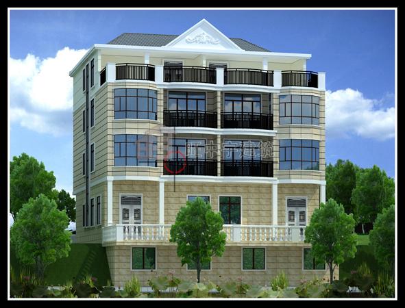 四層聯體新農村別墅設計,新農村別墅自建房設計效果圖