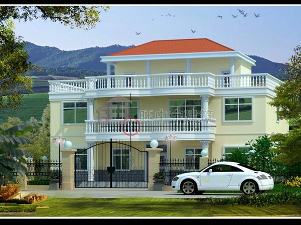 三层联体新农村别墅设计,新农村别墅自建房设计效果图