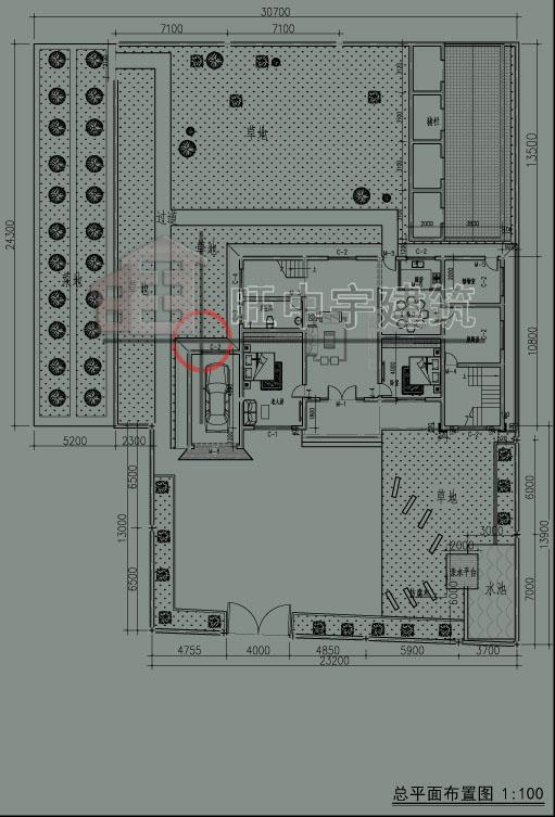 乡村别墅设计总平图