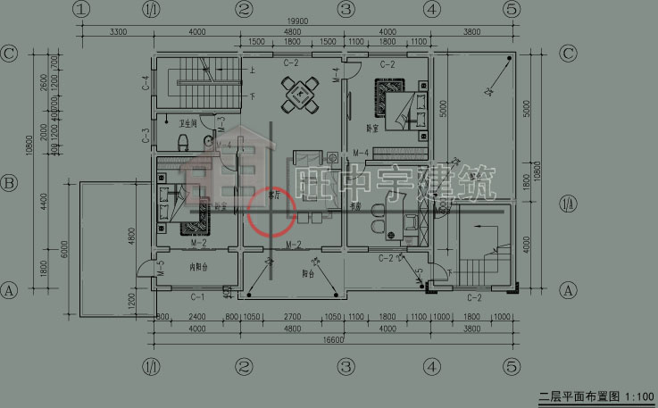 乡村别墅设计二层平面图