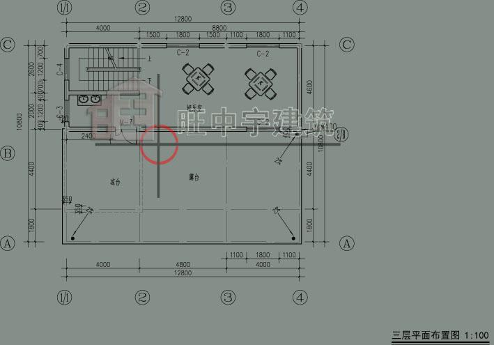 乡村别墅设计三层平面图
