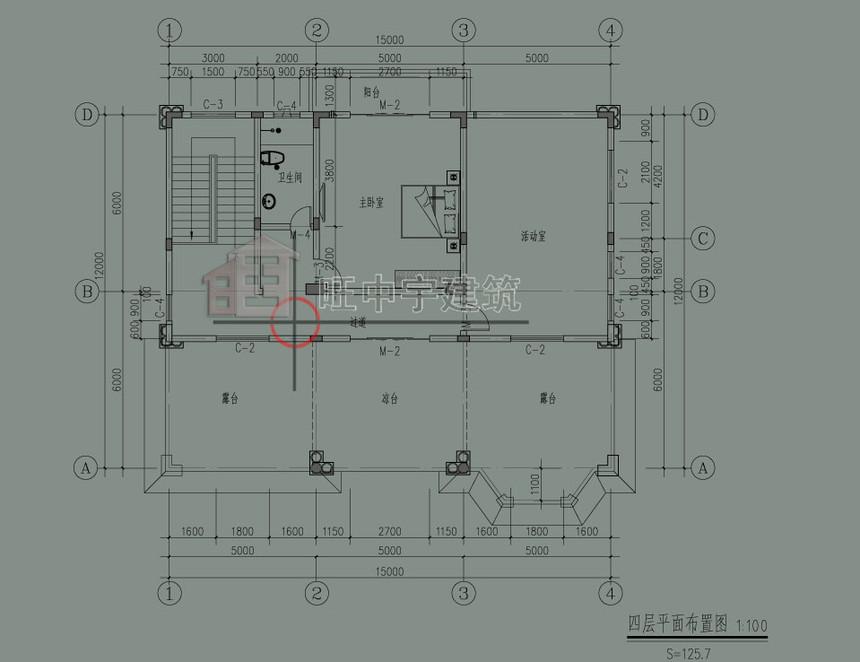 欧式农村别墅自建房四层平面图