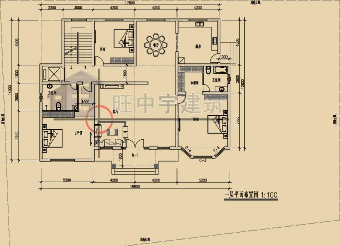 新农村自建别墅豪宅一层平面图