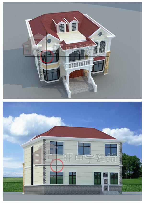 二层田园欧式别墅,小别墅设计图,乡村别墅设计