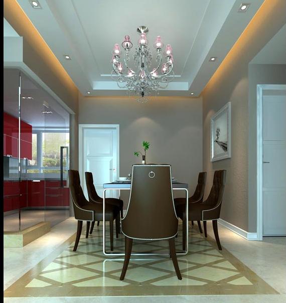 二层田园欧式别墅餐厅内装修效果图