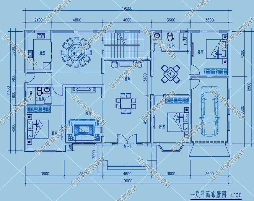 農村別墅一層平面圖