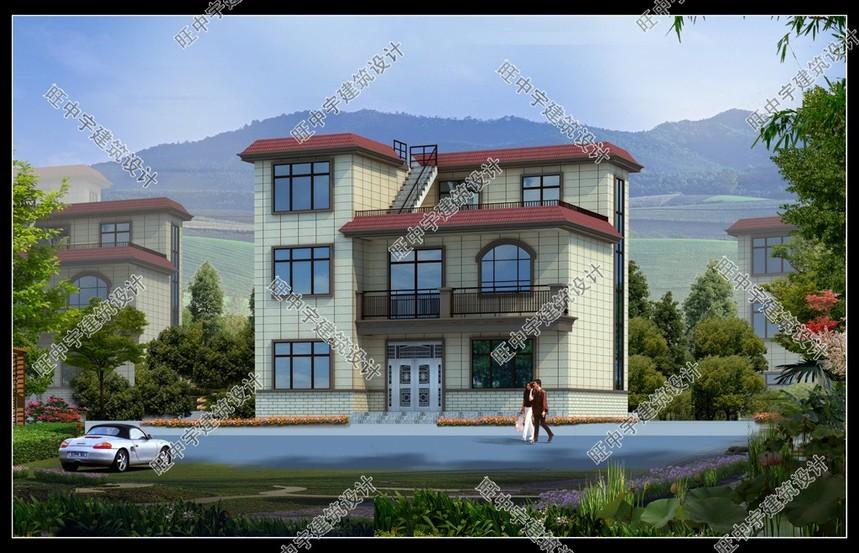 三层平顶小进深农村别墅设计图.jpg