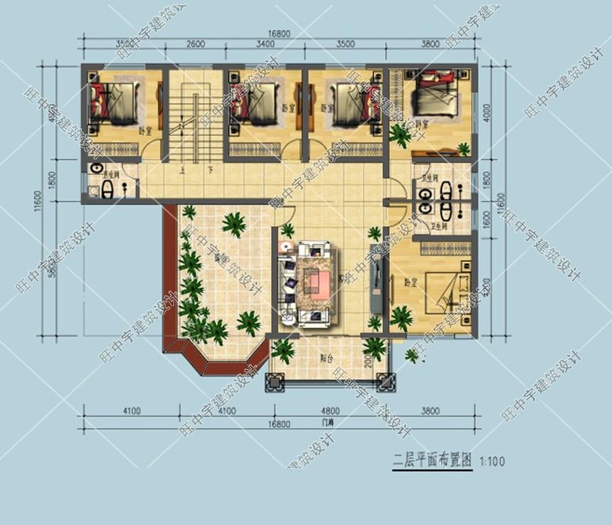新农村别墅自建房三层平面图