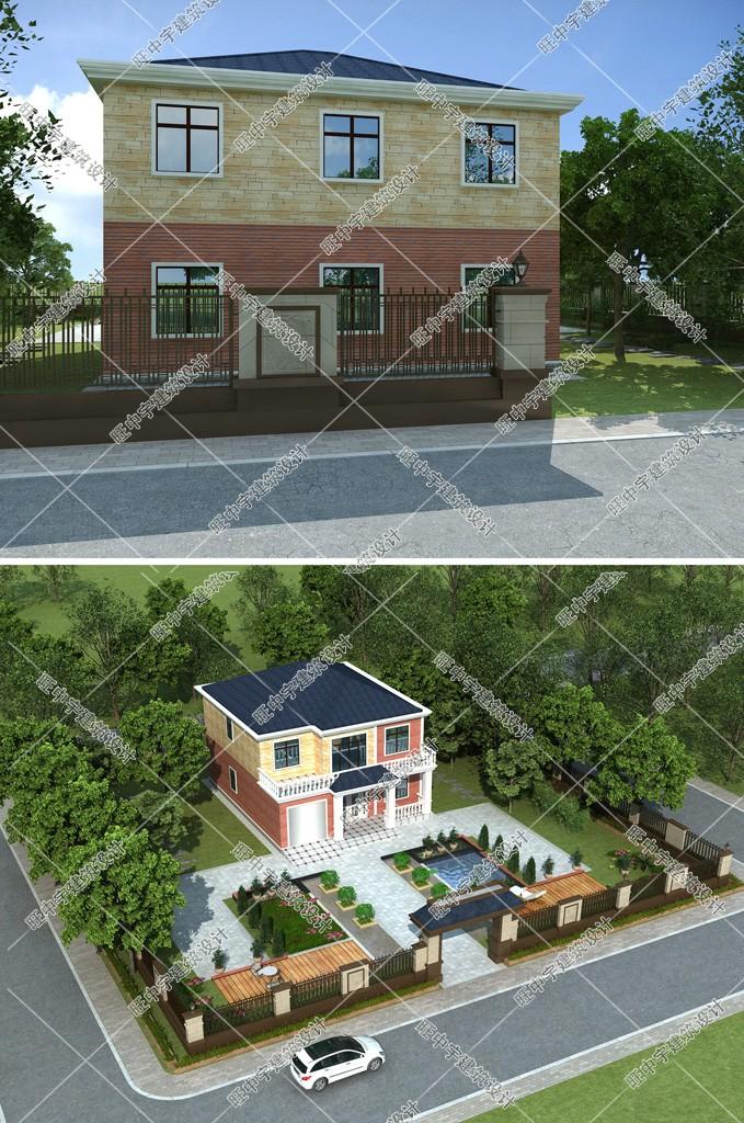 农村两层农家小楼房设计图