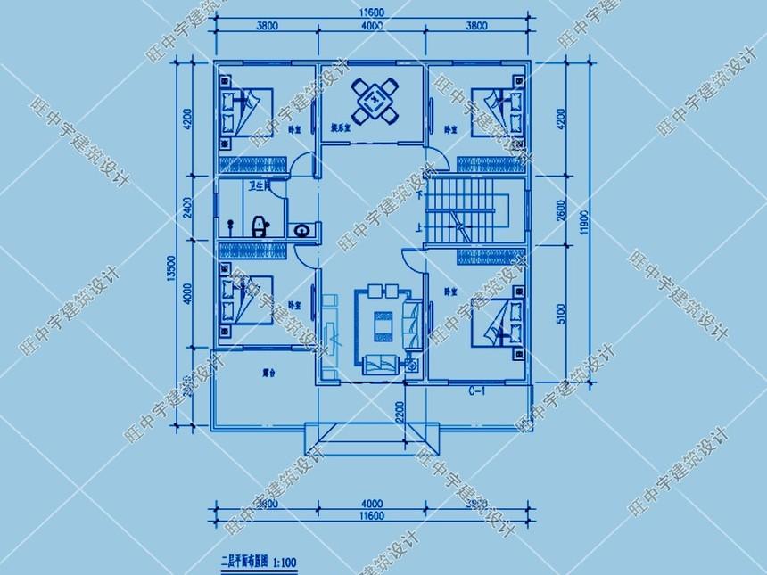 农村两层农家小楼房设计图二层平面图