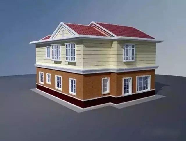 二层农村别墅效果图