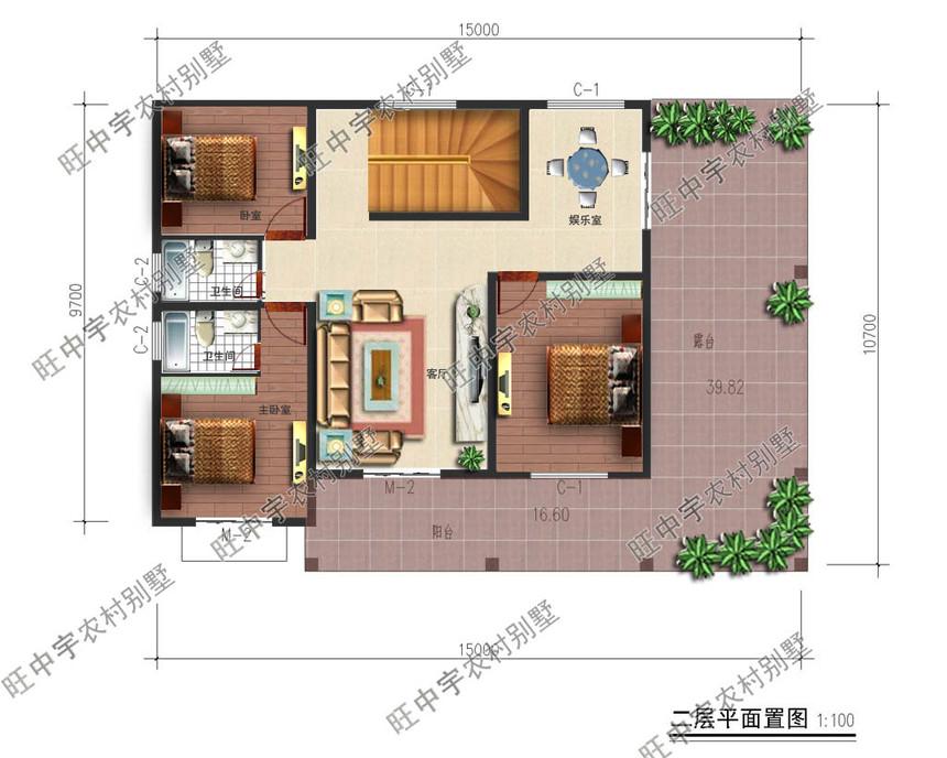 农村别墅二层平面图