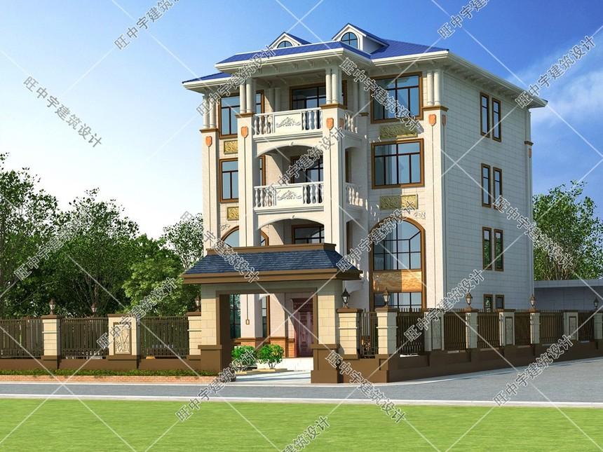 4层农村别墅自建房外观效果图