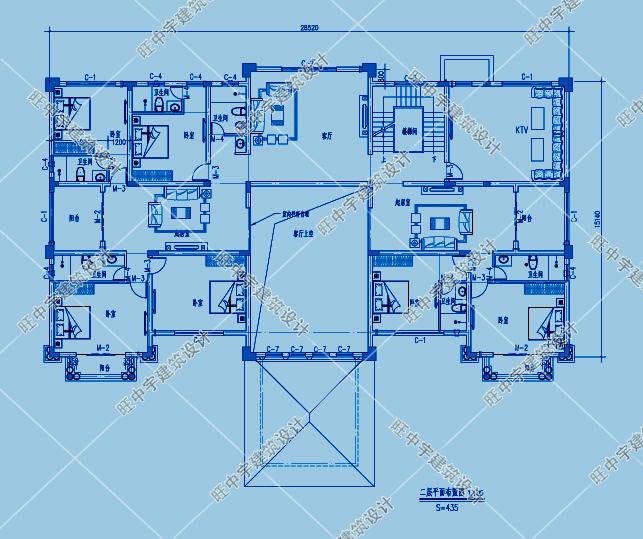 三層歐式豪華農村別墅自建房二層平面圖