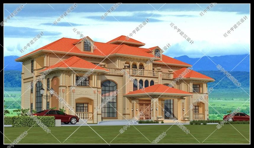 三層歐式豪華農村別墅自建房效果圖