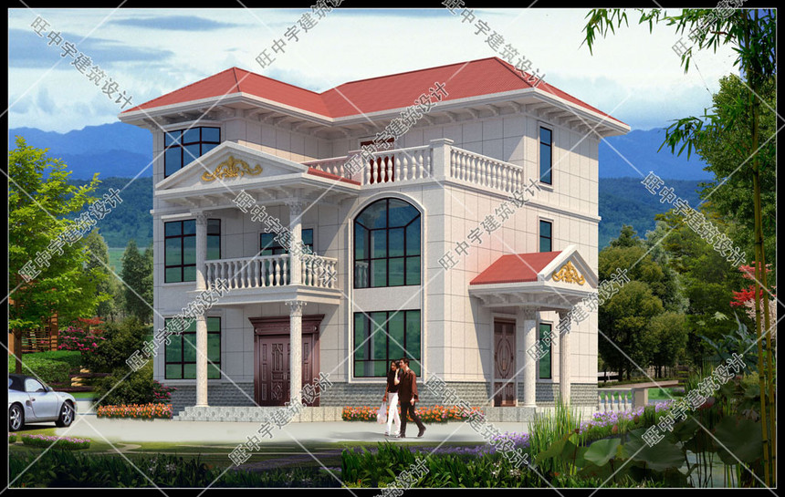 江西江先生自建别墅外观效果图