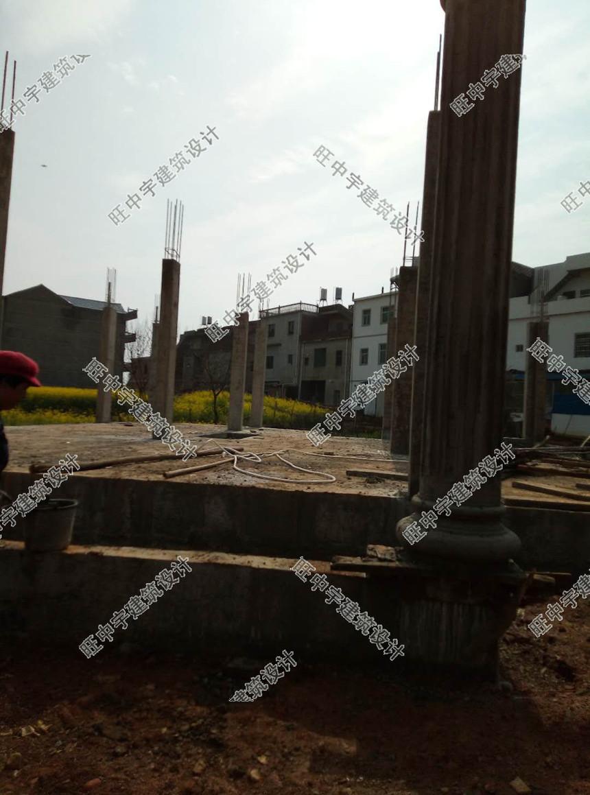 农村别墅自建房建房过程图片