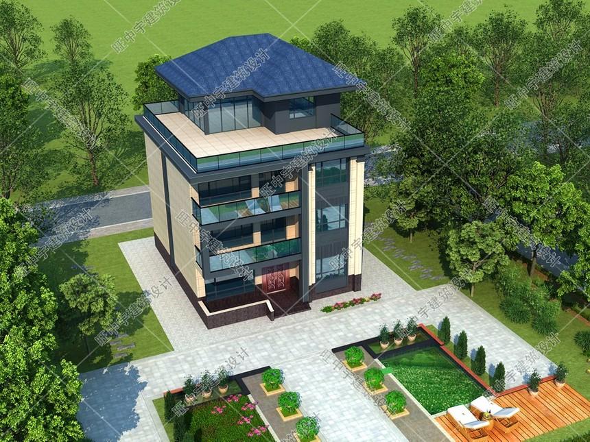 新中式現代款農村別墅效果圖