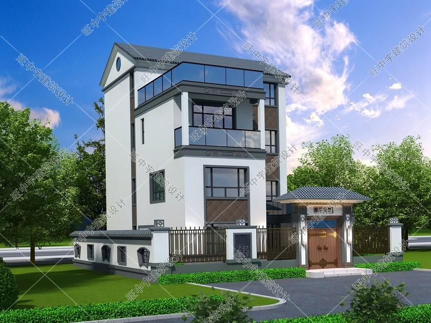 農村自建新中式別墅效果圖