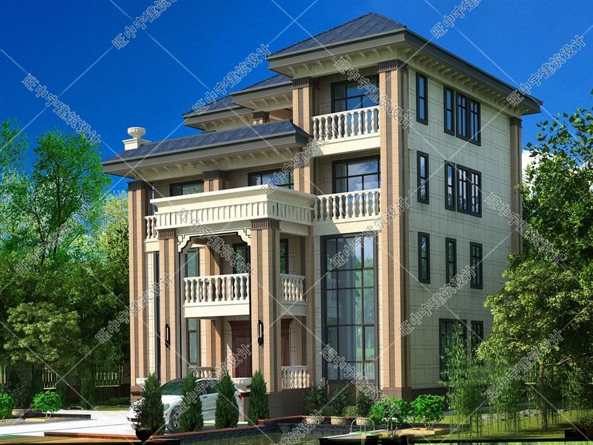 新款農村別墅自建房外形效果圖