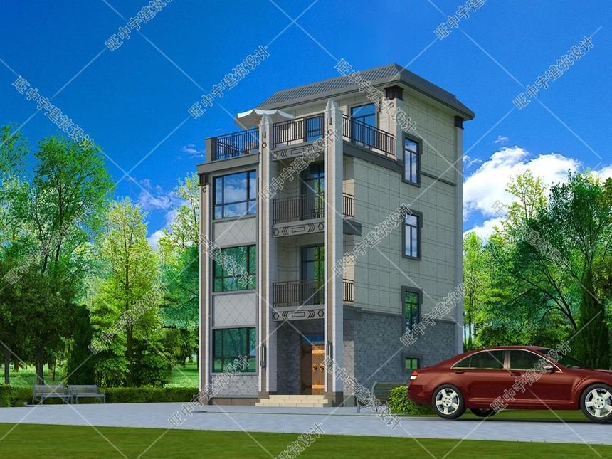 四層農村別墅新中式自建效果圖