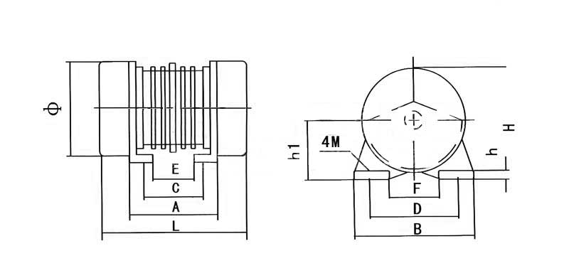 YZO振動電機尺寸圖