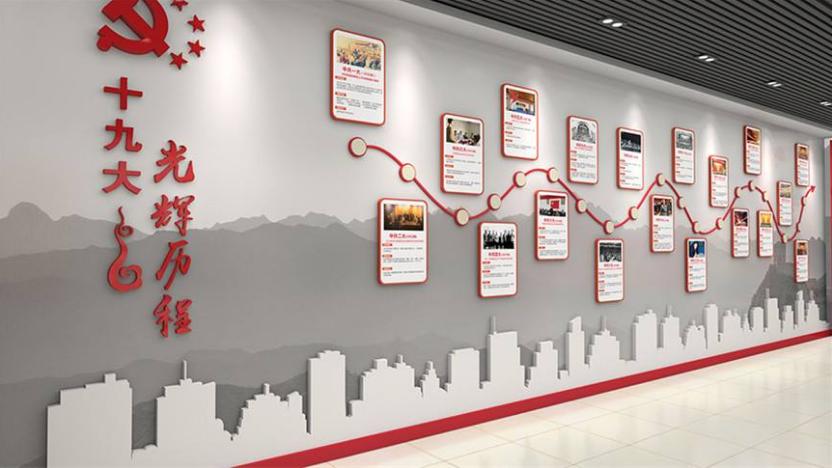 党建文化长廊设计,2020年党建文化长廊设计,党建文化长廊设计方案
