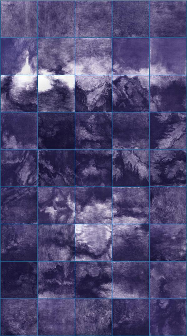 2018 蓝之八 Blue No.8 252×140cm(28×28cm×45) 铜版画  Etching.png