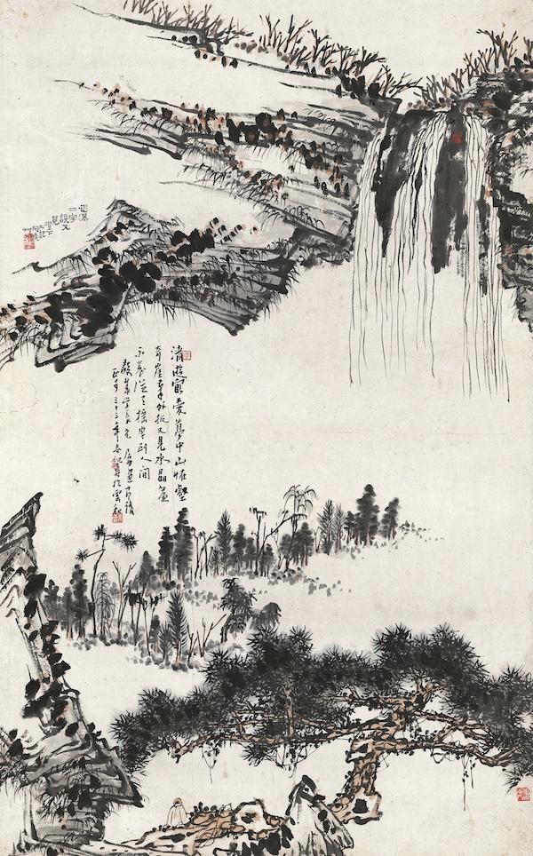 潘天寿  松荫观瀑.jpg