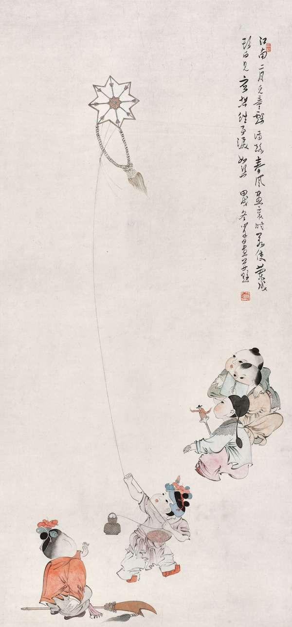 溥心畬《江南二月儿童戏》.jpg