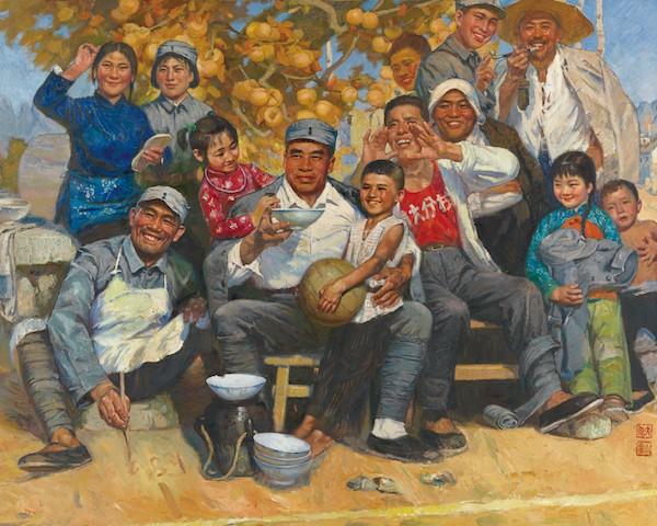 老将 120×150cm 1980年  秦大虎 靳庆金  收藏于中国美术馆.jpg