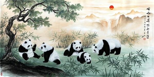 吴长江 《风和日丽 悠然自得》 中国画240x120.jpg
