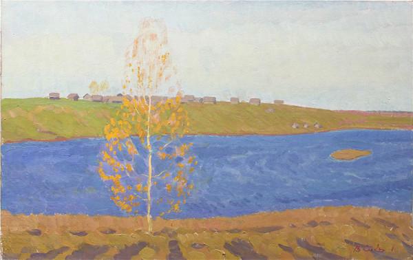 西多罗夫•瓦连金 •米哈伊洛维奇 《秋天》 布面油画 38×60 1972.jpg