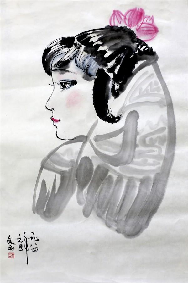 刘文西《少女》 100x70cm 1984.JPG