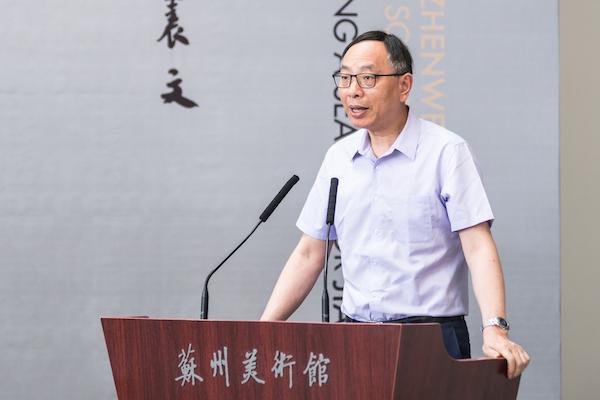 农工党中央副主席、上海市人大副主任 蔡威宣布展览开幕.jpg