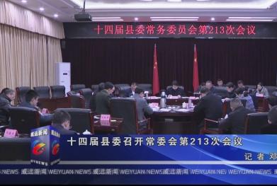 十四届县委召开常委会第213次会议