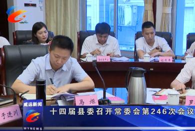 十四届县委召开常委会第246次会议