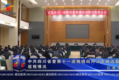 中共四川省委第十一巡视组向内江市威远县反馈巡视情况