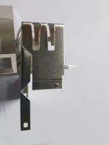 RJ45 1X2铜壳焊脚选镀锡