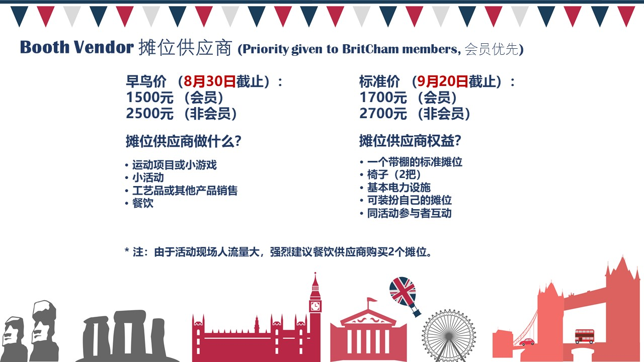 2019 Guangzhou British Day Booth Application