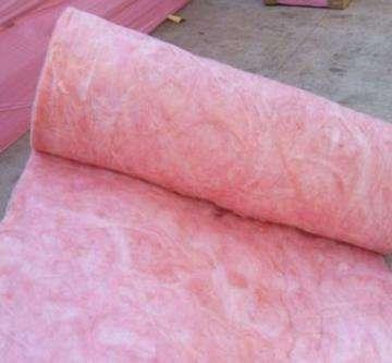 粉红色玻璃棉毡
