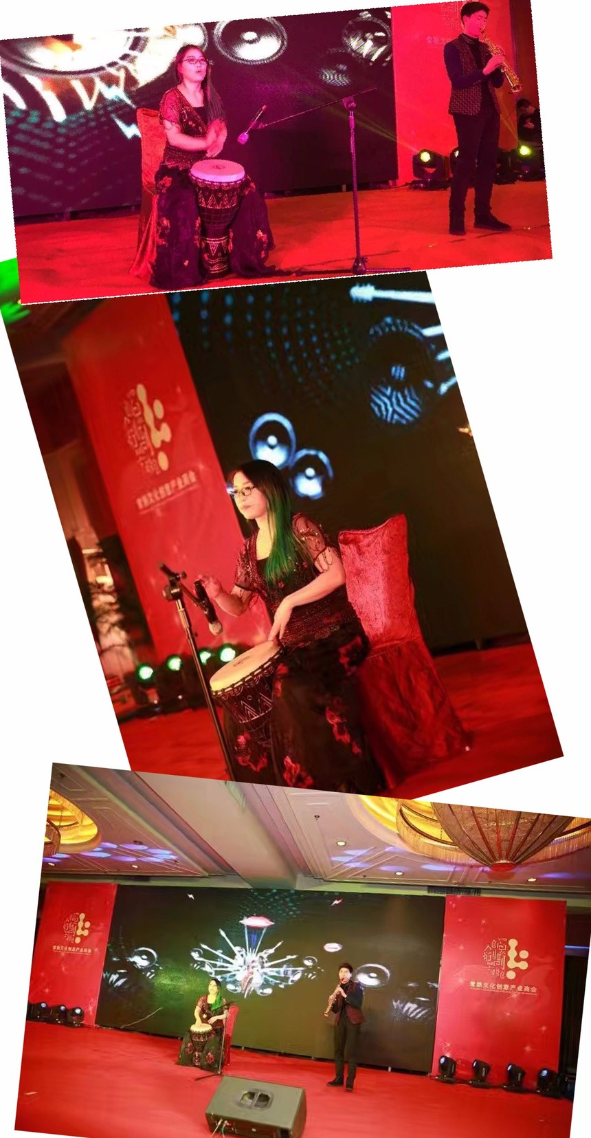 常熟文创协会2016年年会,赵益红的敲鼓《小宝贝》作为开场节目,掀起了整个晚会的气氛4.jpg
