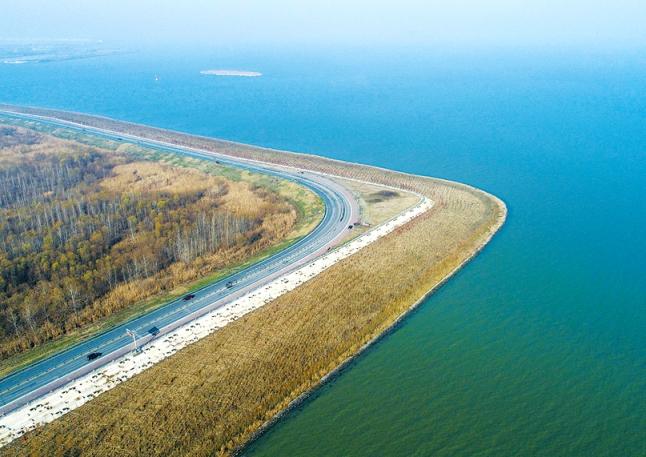 巢湖岸线生态美