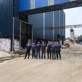 联众带式输送机玻璃厂安装现场